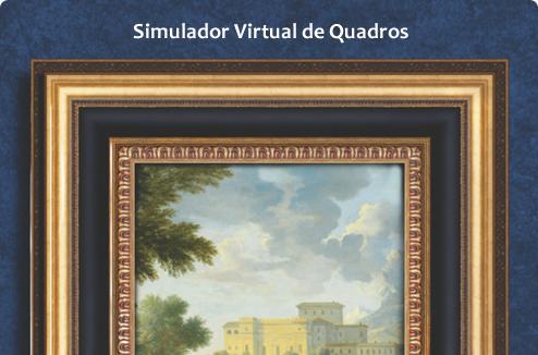Este ambiente virtual possibilita que você escolha suas molduras, aplique suas gravuras e o passepartout, e visualize como ficará a composição dos seus quadros.